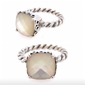 PANDORA Elegant Sincerity mother of pearl ring 7.5